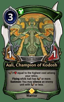 Aali, Champion of Kodosh