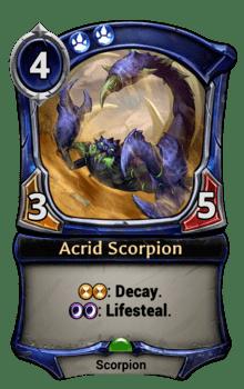 Acrid Scorpion
