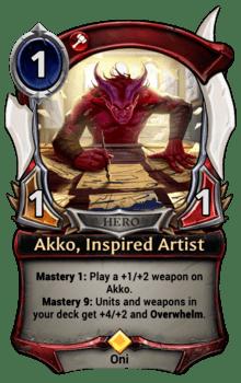 Akko, Inspired Artist