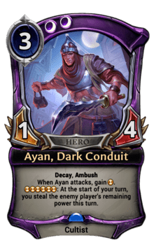 Ayan, Dark Conduit
