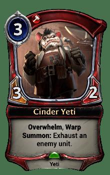 Cinder Yeti