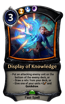 Display of Knowledge