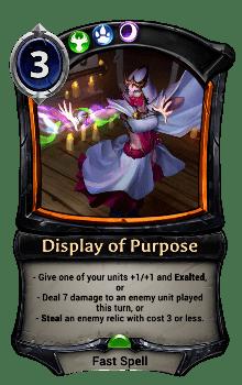 Display of Purpose