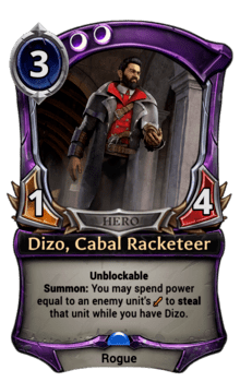 Dizo, Cabal Racketeer