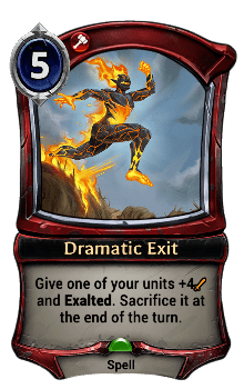 Dramatic Exit