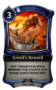 Greed's Reward
