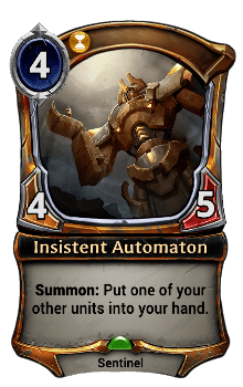 Insistent Automaton