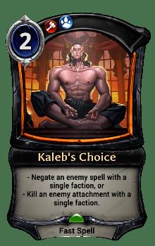 Kaleb's Choice