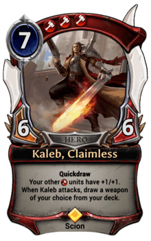Kaleb, Claimless