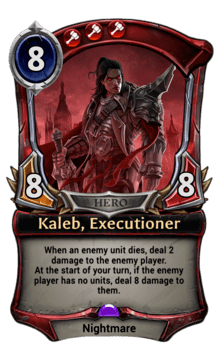 Kaleb, Executioner
