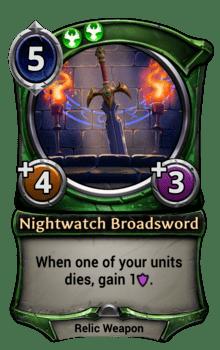 Nightwatch Broadsword