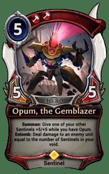 Opum, the Gemblazer