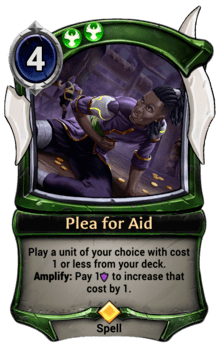 Plea for Aid