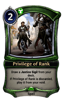 Privilege of Rank