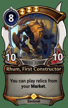 Rhum, First Constructor