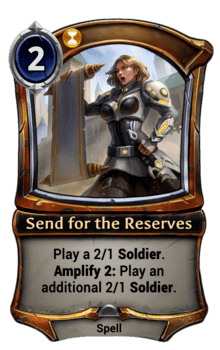 Send for the Reserves