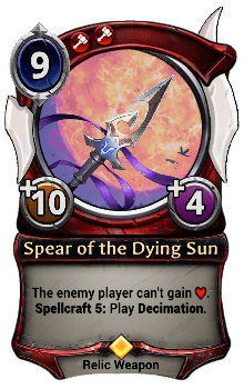 Spear of the Dying Sun