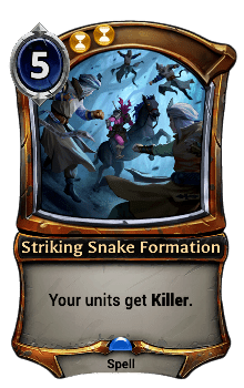 Striking Snake Formation