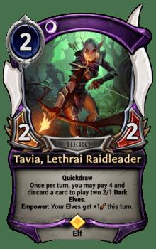 Tavia, Lethrai Raidleader
