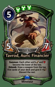 Tavrod, Auric Financier