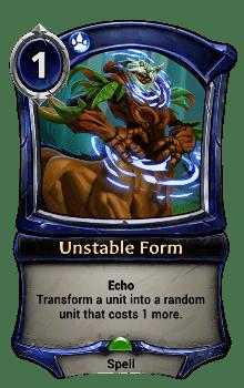Unstable Form