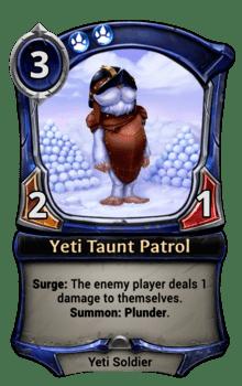 Yeti Taunt Patrol
